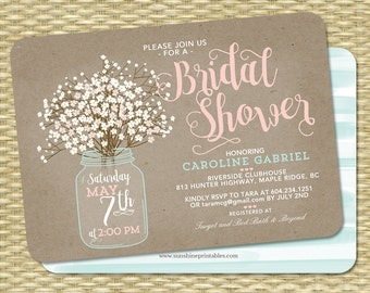 Green Bridal Shower Invitations  Shutterfly