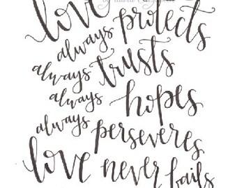 Love... 1 Corinthians 13:7-8