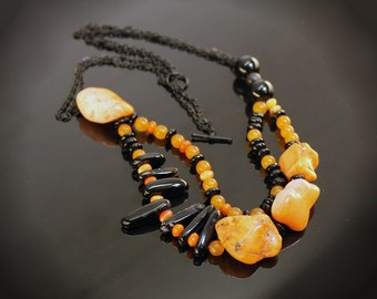 Tangerine Nightmare  Double Chain Necklace