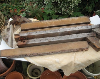 salvaged wood pieces from a vintage wood chair 1940's or ealier, steampunk, wood working, weathered
