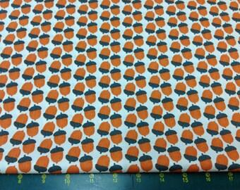 Woodland Animals Acorns Orange Fat Quarter Fabric Material FF69/3