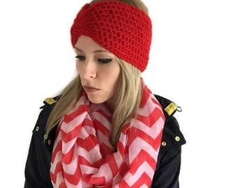 Crochet head wrap, ready to ship