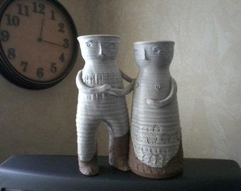 Pottery Couple Vase