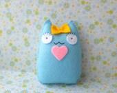 So blue cute kawaii cat doll