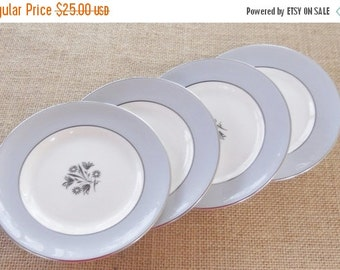 On Sale Royal Doulton Kingsmere Bread and Butter Plates, Set of 4, Fine China, Hollywood Regency, Retro, Vintage