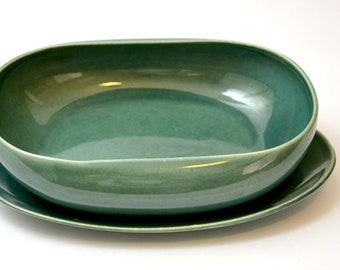 Russel Wright by Steubenville Seafoam Vegetable Bowl