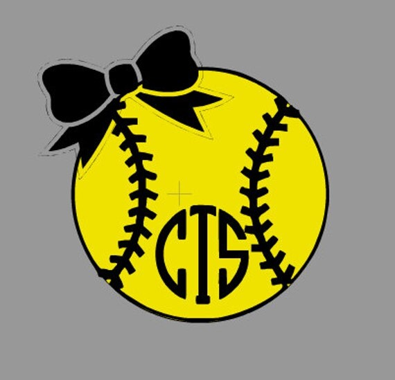 Items similar to softball monogram or number iron on vinyl for Heat press decals for t shirts