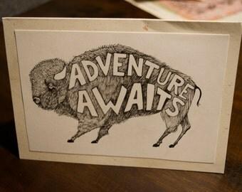 buffalo pop up card
