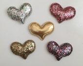 Glitter Hearts Clips