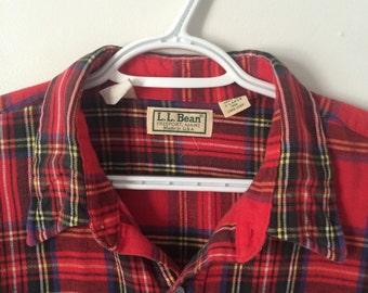 100% Cotton X-Large L.L. Bean flannel shirt