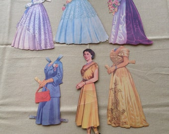 Vintage Queen Elizabeth Paper Doll - with 5 dresses
