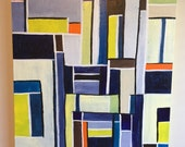 30 x 30 inch acrylic on canvas painting entitled Cubic