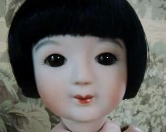MOMOETTE Bleuette size Japanese Sakura Bisque Doll (1)