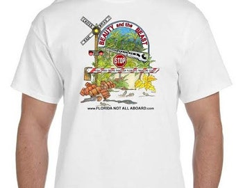 SMALL-Florida Not All Aboard T-Shirt