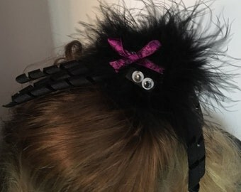 Fuzzy Spider Hair Clip for Child or Adult