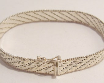 Sterling Silver Milor Bracelet Made in Italy with Safety Clasp