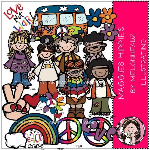 Hippies clip art