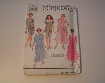 Vintage Simplicity 7105 Miss Dress with full or slim skirt