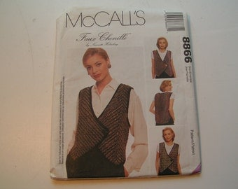 McCalls Pattern 8866 Miss Faux Chenille Vest