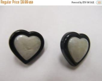 On Sale Vintage Plastic Heart Earrings Item K # 2065