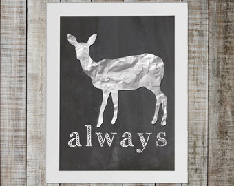 Harry Potter Patronus of Severus Snape and Lily Potter - 'always'