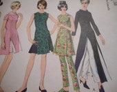 Vintage 1960's Vogue 6560 Tunic and Pants Sewing Pattern Size 14 Bust 34