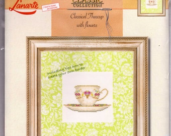 Classical Theecup with Flowers Lanarte Kit 34933