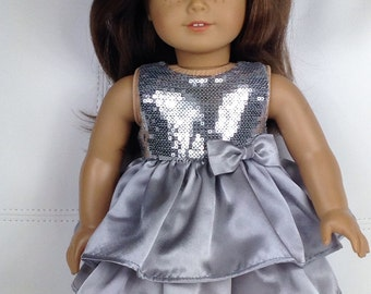 Silver Sequin Party Dress ~ for American Girl Dolls