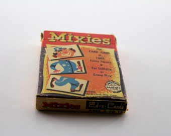 1950s Mixies Card Game - Circus Playing Cards