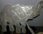 Mother of Pearl Elephant Brooch