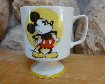 Disney Mickey Mouse pedestal mug Japan