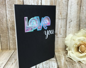 Love You-Shaker card