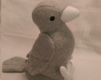Light Grey Bird Crow Plush