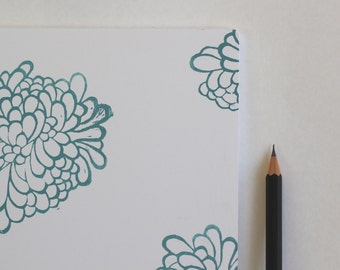 Large, Handmade Floral 16 page Blank Notebook, Journal, Art Diary