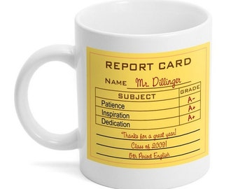 Personalized Report Card Mug for Teacher