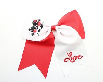 Mickey/Minnie Love Cheer/Clip Bow