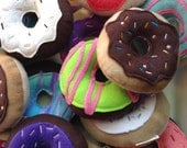 Squeaky Dog Toy Assorted Chocolate and Vanilla Donuts
