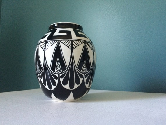 Southwest Art Deco pot