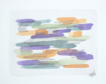 Original Abstracted Nature - Stretched Watercolour