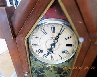 Pair Antique steeple case clocks,PAIR AS IS-