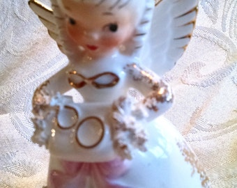 Vintage Napco June Birthday Angel