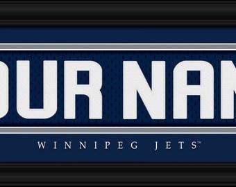 PERSONALIZED & FRAMED NHL Winnipeg Jets Sports Prints