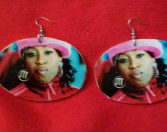 Med/large Missy Elliott earrings
