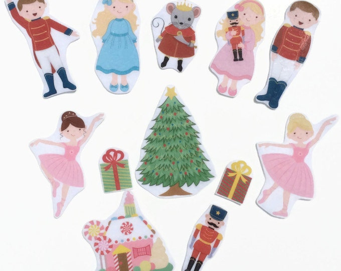 Nutcracker Felt Board Story Set, Children's Christmas Gift, Montessori Toddler Pretend Play Ballerina Toy, Waldorf Quiet Time Activity Board