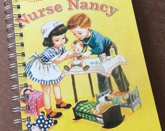 Nurse Nancy Little Golden Book Recycled Journal Notebook