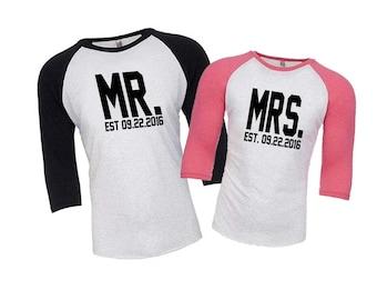 Honeymoon Shirts, Husband and Wife Shirts, Just Married Shirts, Couples Shirts, Mr and Mrs Shirts, Mr and Mrs, Engagement Gift, Wedding Gift