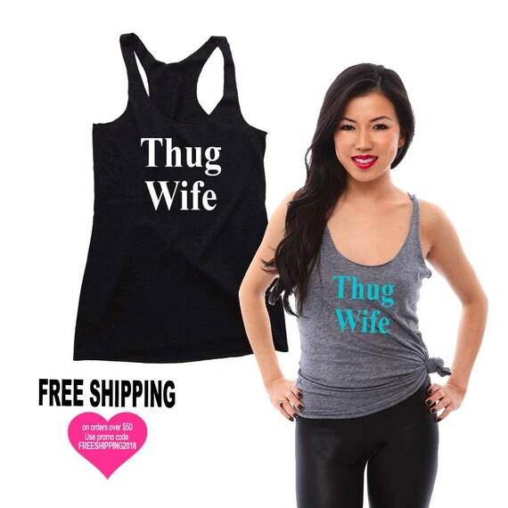 Thug Wife Bride Tank Top Shirt, Bride Tank, Shirt for the Bride, Bride Shirt, Eco Clothing, Wedding Gift, Engagement Gift, Wedding Gift