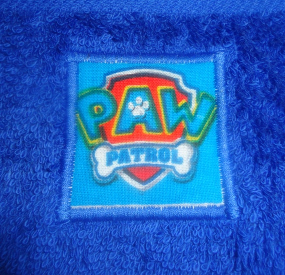 Personalized Paw Patrol Beach Towel: Paw Patrol Full Size Personalized Bath Towel By TotallyKidding