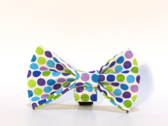 Polka Dot Dog Bow Tie, Dog Bow Tie, Polka Dots
