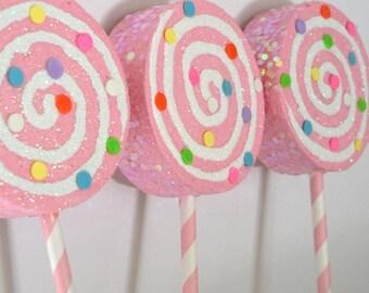 Pink Confetti Ornaments SET OF 3